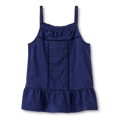 Toddler Girls' Embroidered Tank Top Blue 2T - Genuine Kids from Oshkosh™
