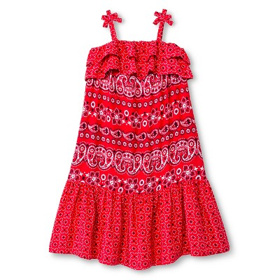 Baby Girls' Paisley Maxi Dress Red 12M - Genuine Kids from Oshkosh™