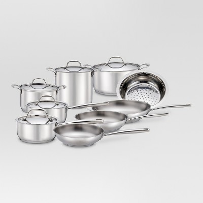 Threshold™ 14 pcs Stainless Steel Cookware Set