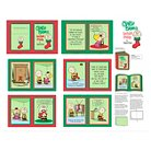 "Peanuts Christmas Softbook Fabric, Christmas Green, 100% Cotton,43/44"" Width, Fabric by the Yard"