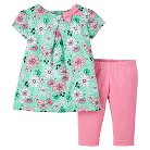 Just One You™Made by Carter's® Newborn Girls' 2 Piece Capri Set - Floral Multi 9M