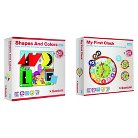 Scotchi Happy Kidz Children's Game Shapes and Colors & My First Clock Game Set