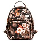 Women's Floral Backpack Handbag - Blush