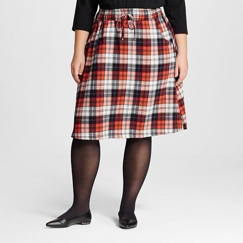Plaid Skirt Plus 17