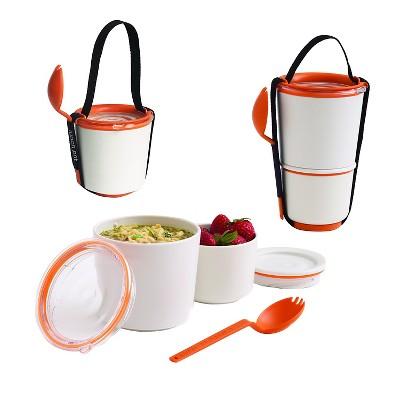"Black + Blum - Lunch Pot – Orange - 4.53""L x 4.53""W x 7.48""H"