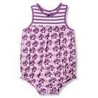 Happy by Pink Chicken Baby Girls' Elephant Print Knit/Woven Bubble Romper - Purple Mist