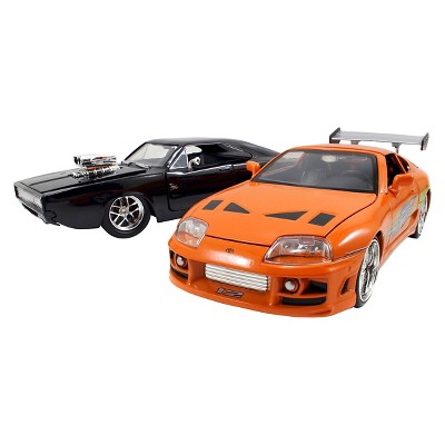 Fast & Furious 1:24 Diecast Twin Pack - 1995 Toyota Supra & 1970 Dodge Charger