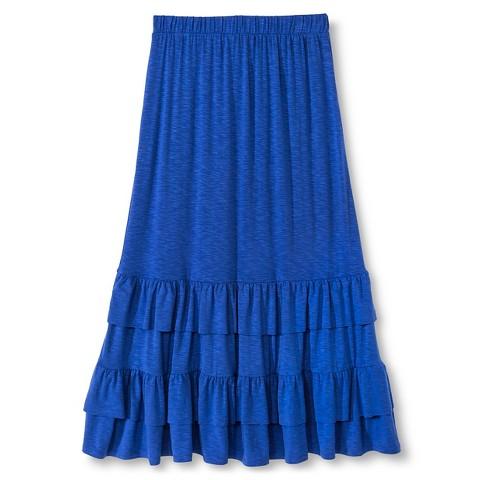 tiered knit maxi skirt blue 174 target