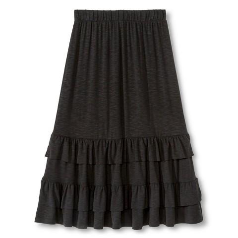 tiered knit maxi skirt black 174 target