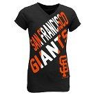 San Francisco Giants Youth Tri-blend V-Neck T-Shirt XL