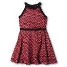 Girls' Penelope Tree Lips Pattern Skater Dress - Black S