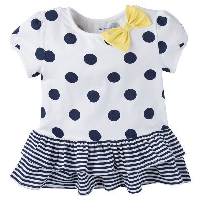 Gerber® Toddler Girls' Polka Dots Tunic - White 24 M