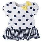 Gerber® Toddler Girls' Polka Dots Tunic - White