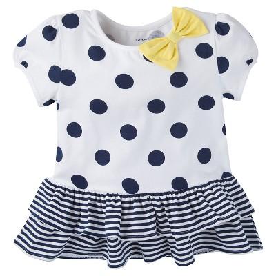 Gerber® Toddler Girls' Polka Dots Tunic - White 12 M