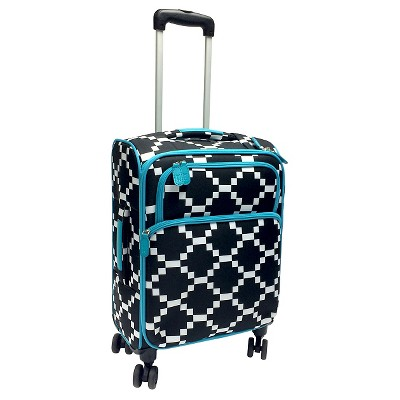 French Bull 21  Carry On Roller Luggage - Black/White