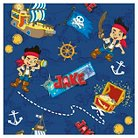 "Disney Jake Treasure Map Allover, Blue, 100% Cotton, 43/44"" Width, Fabric by the Yard"