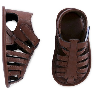 Baby Boys' Gladiator Sandal Brown 0-3M - Cherokee®