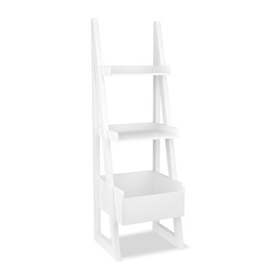 Leaning Kids Bookcase - White - Pillowfort™