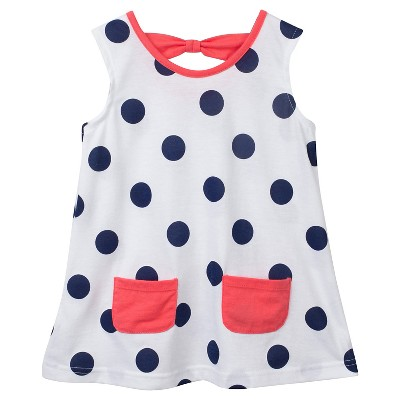 Gerber® Toddler Girls' Polka Dots Tunic - White 3T