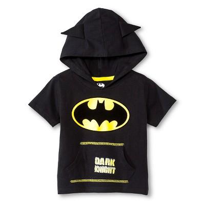 Batman™ Baby Boys' Hooded Costume Tee - Black 12 M