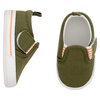 Baby Boys' Slip-On Shoe Olive Green Size 2 - Just One You™Made by Carter's®