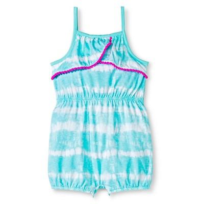 Cherokee® Baby Girls' Pom-Pom Trim Romper - Tie Dye 3-6M
