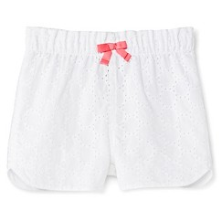 Toddler Girls' Dobby Eyelet Short White - Cherokee®