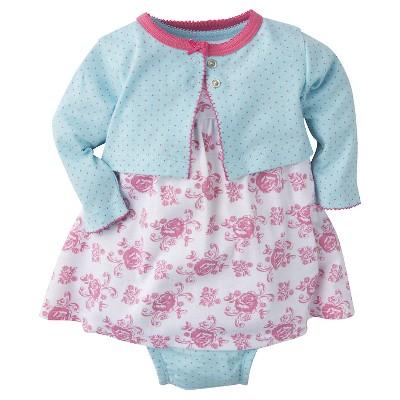 Gerber® Baby Girls' 3-Piece Roses Dress 6-9M