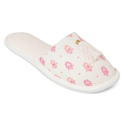 Women's Slippers White Print M - Gilligan & O'Malley®
