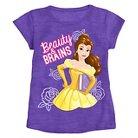 Disney Princess Belle Toddler Girls' Short Sleeve Tee - Purple