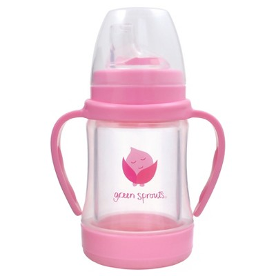 green sprouts® Glass Sip & Straw Cup - Pink
