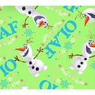 """Disney Frozen Olaf Toss, Green, 100% Cotton, 43/44"""" Width, Fabric by the Yard"""