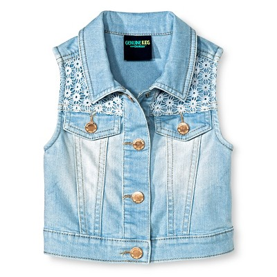 Baby Girls' Denim Vest Blue 12M - Genuine Kids from Oshkosh™