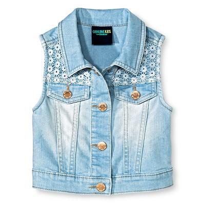 Baby Girls' Denim Vest Blue 12M - Genuine Kids from Oshkosh™