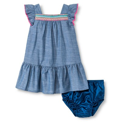 Baby Girls' Sun Dress Chambray Blue 18M - Cherokee®