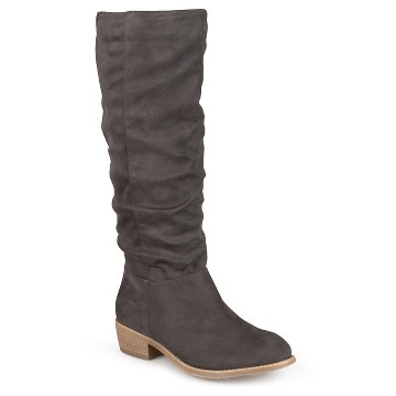 Women's Journee Collection Round Toe Secret Pocket Heeled Riding Boots
