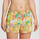 Women's Gauze Sleep Short Yellow Floral XS - Xhilaration™
