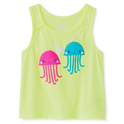 Baby Girls' Jellyfish Graphic Tank Top Green 12M - Circo™