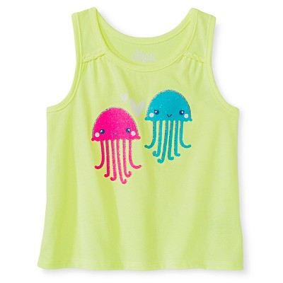 Toddler Girls' Jellyfish Graphic Tank Top Green 3T - Circo™