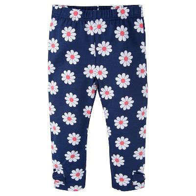 Gerber® Toddler Girls' Floral Legging Pant - Blue 12 M