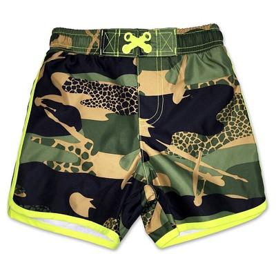 Baby Boys Camouflage Swim Trunk Green 18M - Circo™