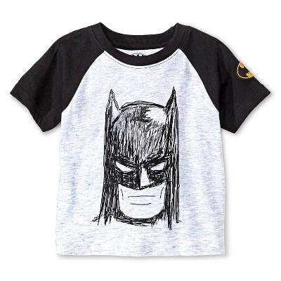 Batman Baby Boys' T-Shirt 12M - Light Heather Grey