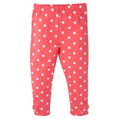 Gerber® Toddler Girls' Polka Dots Legging Pant - Pink 24 M
