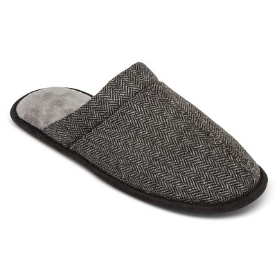 Impressions by Isotoner Men's HerringbOne Clog Slipper Ash M