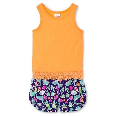 Baby Girls' Tank Top and Short Set Orange/Purple 18M - Circo™