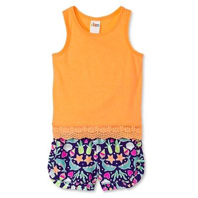 Toddler Girls' Tank Top and Short Set Orange/Purple 3T - Circo™