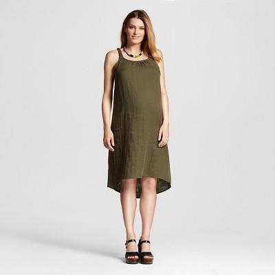 Maternity Braided Strap Dress Olive M - Liz Lange® for Target