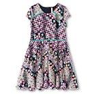 Girls' Printed Lace Skater Dress Xhilaration™ - Mint/Navy XS