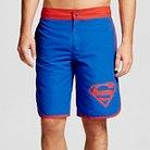 Superman Men's Logo Board Shorts Dark Blue S