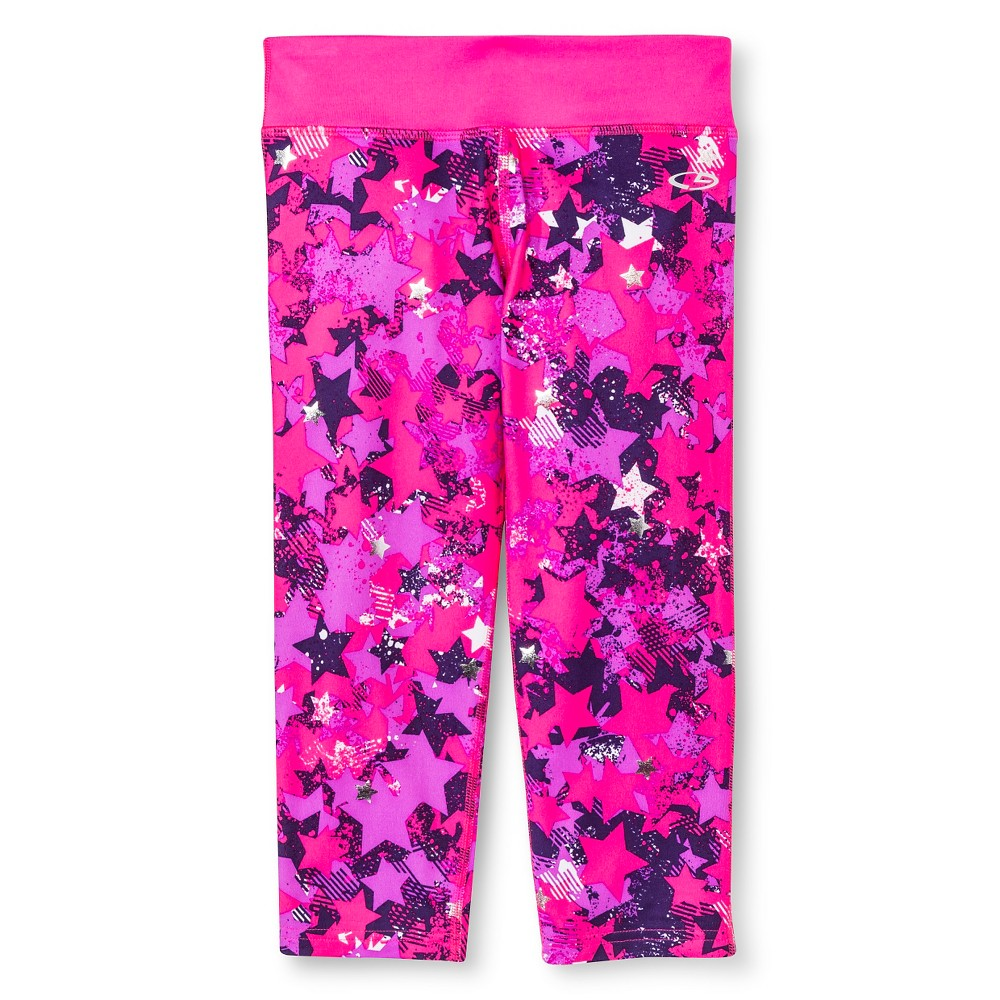 Girls' Printed Performance Yoga Capri Purple Star Multi L - C9 Champion, Girl's, Size: Large